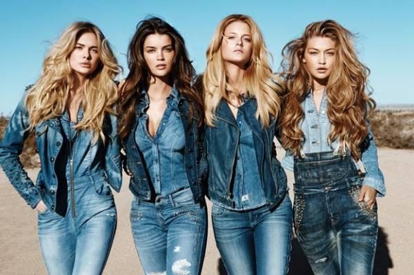 блондинки в джинсовой одежде фото